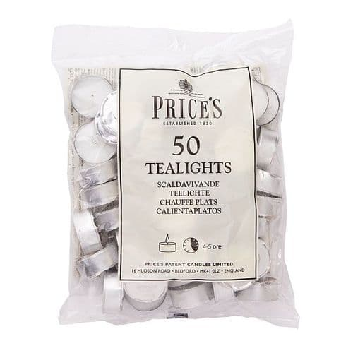 WHITE TEALIGHTS BAG x 50 PRICES
