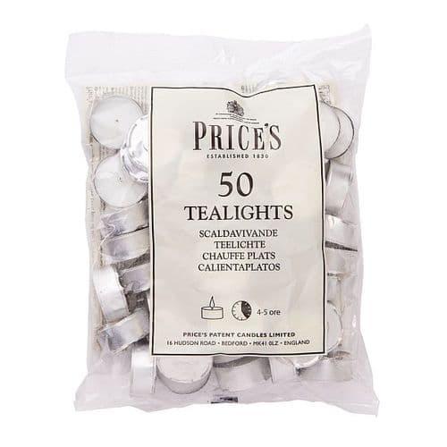 WHITE TEALIGHTS BAG x 50 PRICES