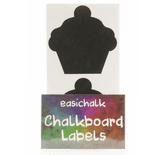 12 Large Cupcake Chalkboard Labels