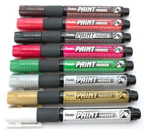 Christmas Pack of 8 Pentel Permanent bullet tip paint markers MMP20