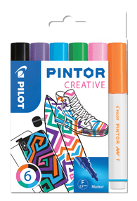 Fun Colours Pack of Fine Pilot Pintor Paint Markers