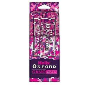 Helix Oxford Maths Set Camo Pink
