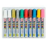 Pack of 10 Zig Posterman Waterproof Chalk Markers 6mm Nib