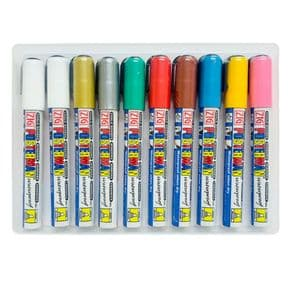 Pack of 10 Zig Posterman Waterproof Chalk Markers 6mm Nib