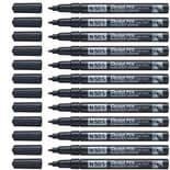 Pentel N50S Black Fine Permanent Marker Pack of 12