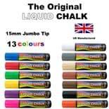 Rainbow Chalk 15mm Large Nib Chalk Markers