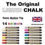 Rainbow Chalk 5mm Bullet Nib