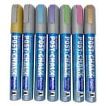 Set of 7 Metallic Zig Postchalk Wet Wipe Chalk Markers