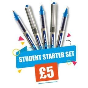 Uni-ball UB 157 Student Starter Set Blue Ink