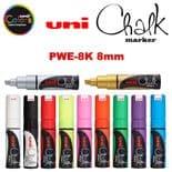 uni Chalk PWE-8K 8mm Chisel tip Markers