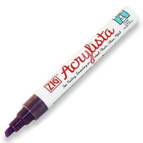 Wild Heather Zig Acrylista 6mm chisel tip paint marker