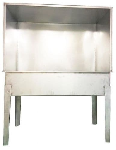 Washout Booth Stainless Steel Model S (Small) In Stock