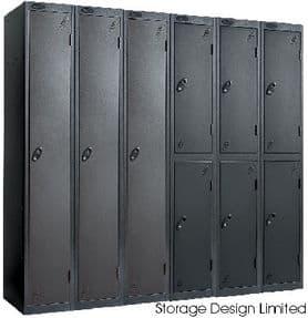 All Black Single Door Probe Locker