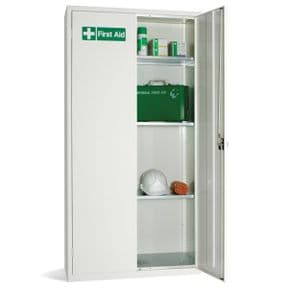 First Aid Double Door Cabinet - 3 Shelves