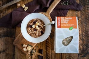 DARK CHOCOLATE & GINGER  Vegan & Dairy Free Porridge 500g