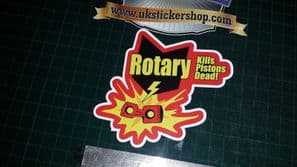1x  ROTARY KILLS PISTONS full colour printed sticker decal Funny Maza RX8 RX7