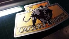 1x Scomadi Badge Printed Decal Sticker Lambretta Vespa innocenti mod nos vinyl C