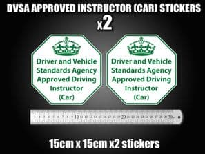Approved Driving instructor Vinyl stickers decals Sign DVSA ADI DSA Learner Car