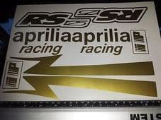 APRILIA RS125  Decal/ Sticker Pack -