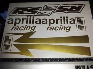 APRILIA RS125  Decal/ Sticker Pack -