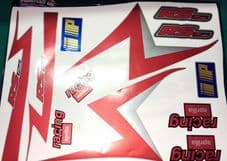 APRILIA RS125 Red, Silver, Black Decal/Sticker kit, Original Size 1999-2005 gfx