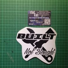 Built Not Bought decal style 4