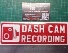 Dashcam Recording Sticker