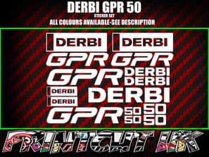 Derbi GPR 50 GP-R50 GPR-50 GPR50 STICKERS/DECALS