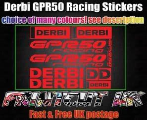 Derbi GPR 50 Racing STICKERS/DECALS