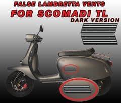 False GP vent Decals / Stickers for Scomadi TL DARK version Turismo Leggera