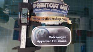 funny Volkswagen Approved Emissions sticker VW Golf Touran Sharan Tiguan Beetle