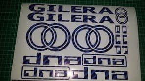 Gilera DNA Decals/Stickers EXCLUSIVE BLUE CARBON DESIGN 50 70 125 172 180 210