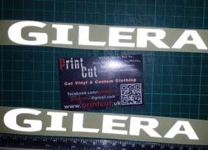 Gilera reflecive decals x2