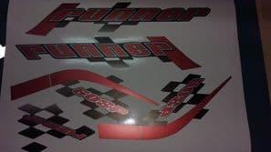 Gilera Runner 50 & 125 new shape sticker set, RED SOUL (black soul, white soul REP) SP /ST