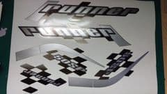 Gilera Runner 50 & 125 sp new shape sticker set, white soul REP, silver Printed Decals