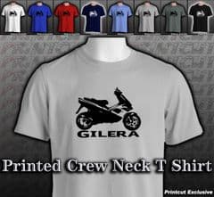 Gilera Runner Crew Neck T Shirt BNWOT Red White Royal Navy Black Grey S M L XL