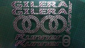 Gilera Runner Decals/Stickers Carbon & Silver DESIGN sp vx fx vxr 125 172 180 50