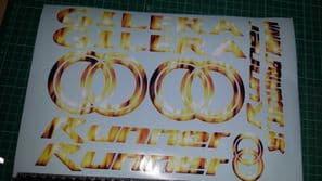 Gilera Runner Decals/Stickers EXCLUSIVE Fire / Flame DESIGN sp vx fx vxr 125 172