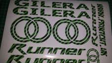 Gilera Runner Decals/Stickers EXCLUSIVE GREEN CARBON DESIGN sp vx fx vxr 125 172