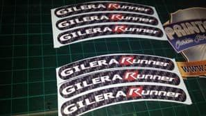 Gilera Runner Rim tape Wheel stickers EXCLUSIVE 50, 125. 172, 180 183 sp vx st E