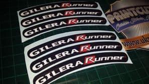 Gilera Runner Rim tape Wheel stickers EXCLUSIVE 50, 125. 172, 180 183 sp vx st G