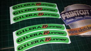 Gilera Runner Rim tape Wheel stickers EXCLUSIVE 50, 125. 172, 180 183 sp vx st I