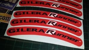 Gilera Runner Rim tape Wheel stickers EXCLUSIVE 50, 125. 172, 180 183 sp vx st K
