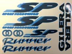 Gilera Runner SP Sticker Decal Set FX FXR 125 172 180 183 OLYMPIC BLUE & BLACK