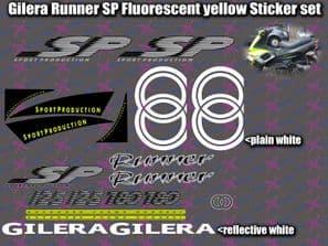 Gilera Runner SP Stickers Decals, FLUORESCENT YELLOW AUTOCOLLANT ETICHETTA