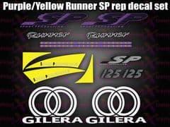 Gilera Runner SP Stickers Decals, Purple & Yellow  Set, Kit, Rep, 50 70 125 172 180