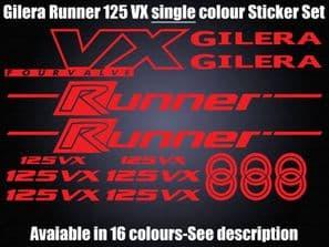 Gilera Runner VX 125 Decals/Stickers 50 70 125 172 183 210