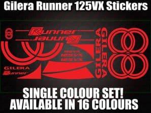 Gilera Runner VX 125 Large Decals/Stickers 50 70 125 172 183 210