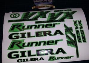 Gilera Runner VX 125 Sticker/Decal Set  *GREEN & BLACK* 4 STROKE ST VXR