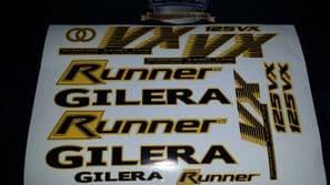 Gilera Runner VX 125 Sticker/Decal Set  *YELLOW & BLACK* 4 STROKE ST VXR